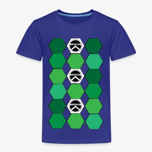 |K·CLOTHES| HEXAGON ESSENCE GREENS & WHITE - Camiseta premium niño