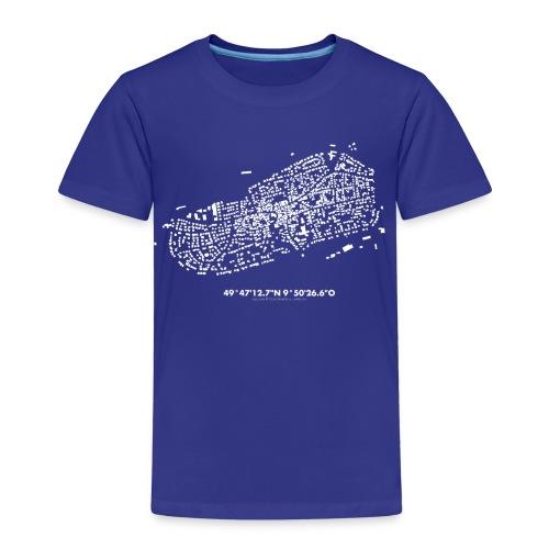 Schwarzkarte Waldbüttelbrunn, weiß - Kinder Premium T-Shirt