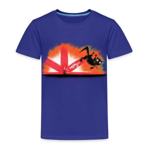 The Mysterious Ninja Mouse - Kinder Premium T-Shirt