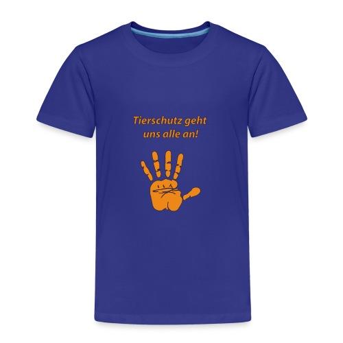 Tierschutz geht uns alle an - Kinder Premium T-Shirt
