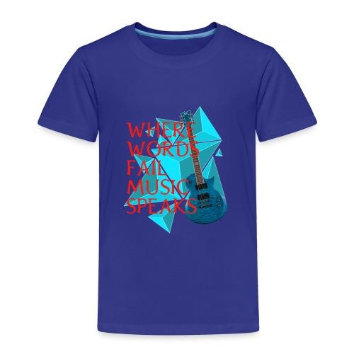 Where Words Fail Music Speaks - LC Designs - Kids' Premium T-Shirt