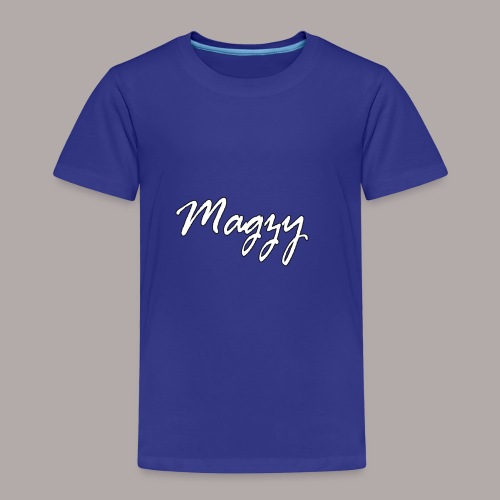 magzy white with black outline writing - Kids' Premium T-Shirt