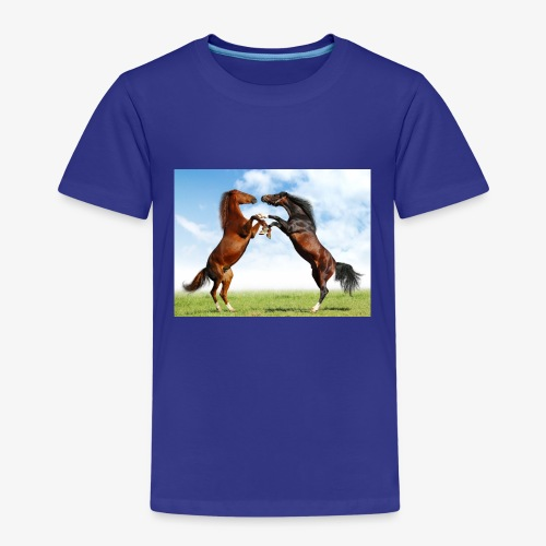 kaksi hevosta - Lasten premium t-paita