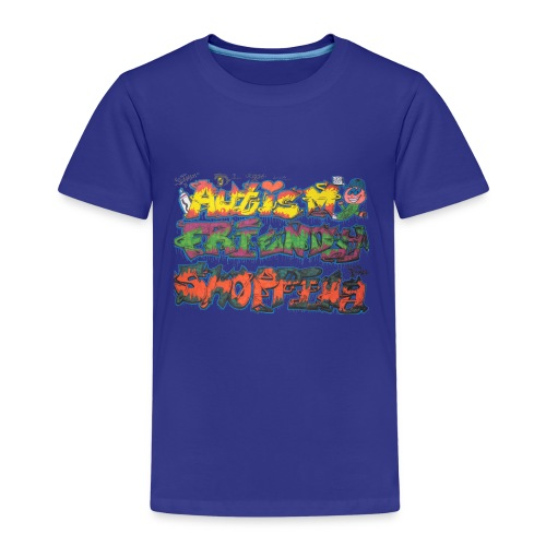 Autism Friendly Shopping Graffiti Style - Kids' Premium T-Shirt