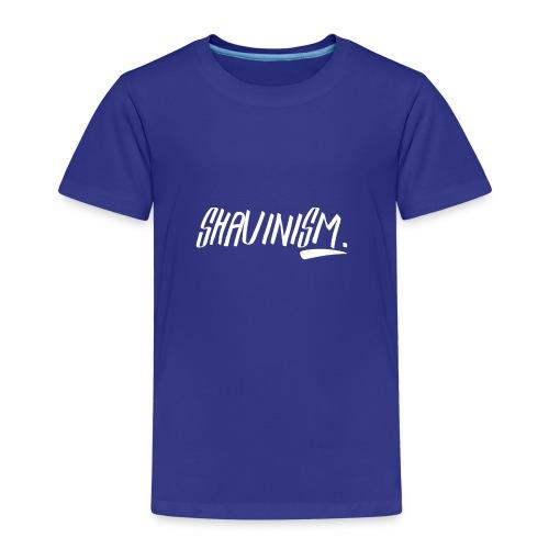 Shavinism logo white - Kids' Premium T-Shirt