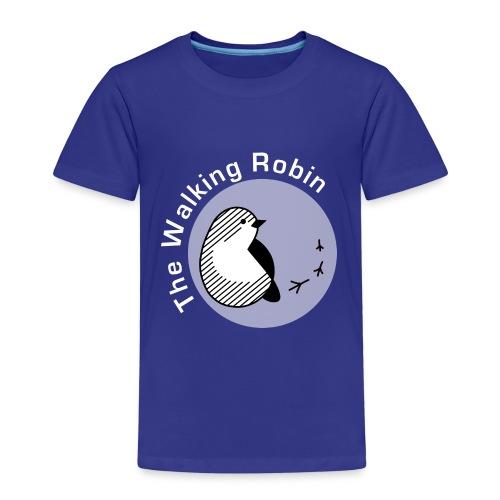 Logo TheWalkingRobin black&white - Maglietta Premium per bambini