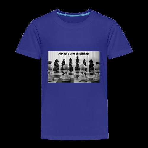 Alingsås Schacksällskap, bräde - Premium-T-shirt barn