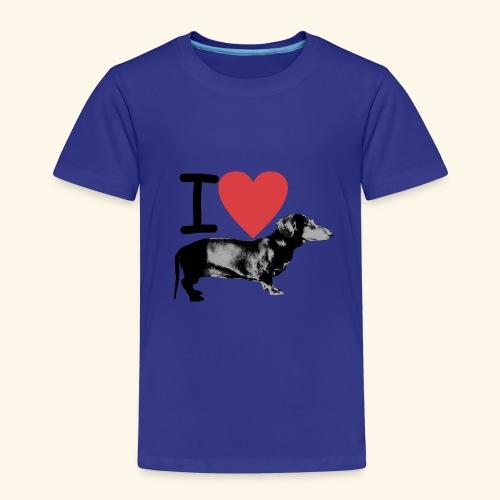 Pakopaka - I Love Dachshunds - Kinder Premium T-Shirt