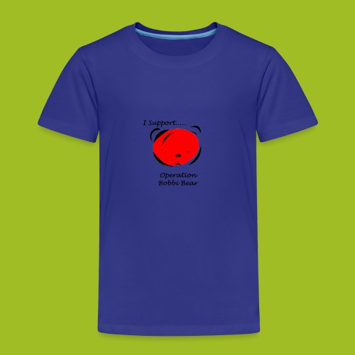 I support Operation Bobbi Bear - Kinderen Premium T-shirt