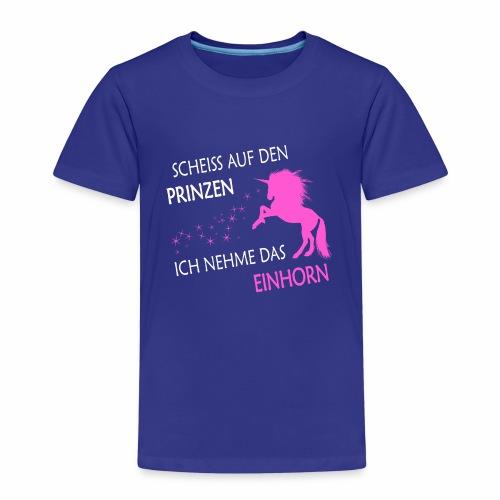 Einhorn statt Prinz pink - Kinder Premium T-Shirt