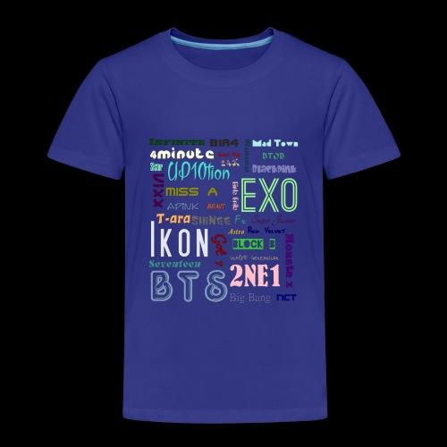 Kpop - Gruppen - Namen - Kinder Premium T-Shirt