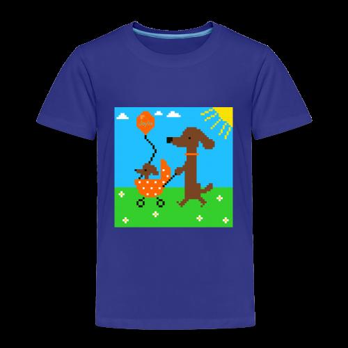 Wackeldackel aus dem Pixelland - Kinder Premium T-Shirt