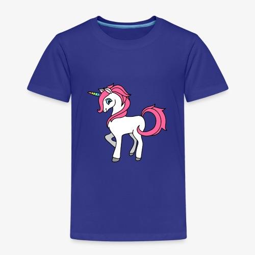 Süsses Einhorn mit rosa Mähne und Regenbogenhorn - Kinder Premium T-Shirt