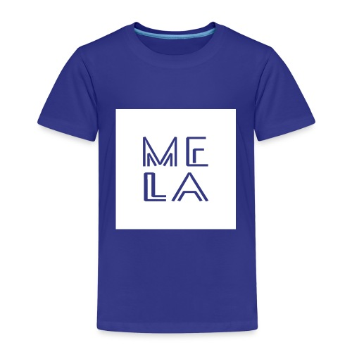 Mela Hvit Logo - Premium T-skjorte for barn