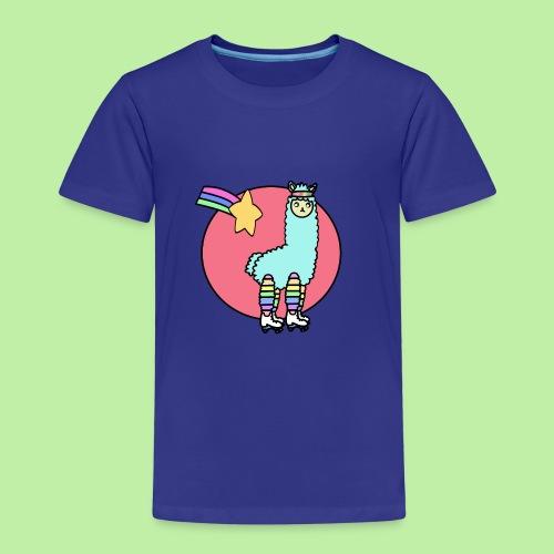 Disco - no drama the 80's kawaii llama - Kids' Premium T-Shirt