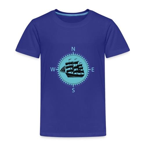 Schiff minze kompass nord süd - Kinder Premium T-Shirt