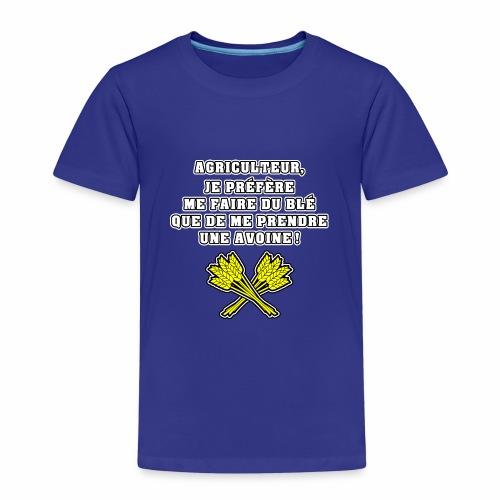 AGRICULTEUR, JE PRÉFÈRE ME FAIRE DU BLÉ QUE DE ME - T-shirt Premium Enfant