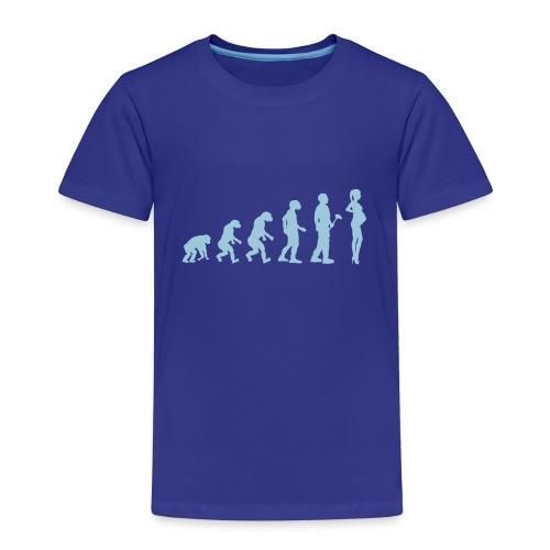 Evolutionstheorie Schwanger - Kinder Premium T-Shirt