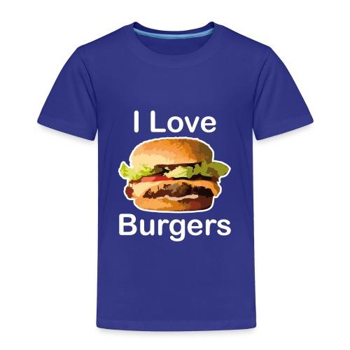 I Love Burgers - T-shirt Premium Enfant