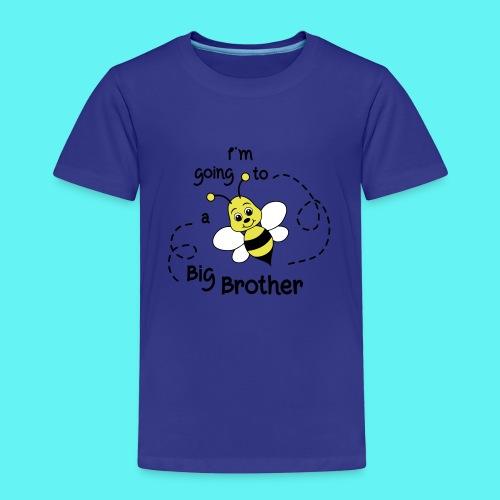 Grote broer, bij, bekend making zwanger - Kinderen Premium T-shirt