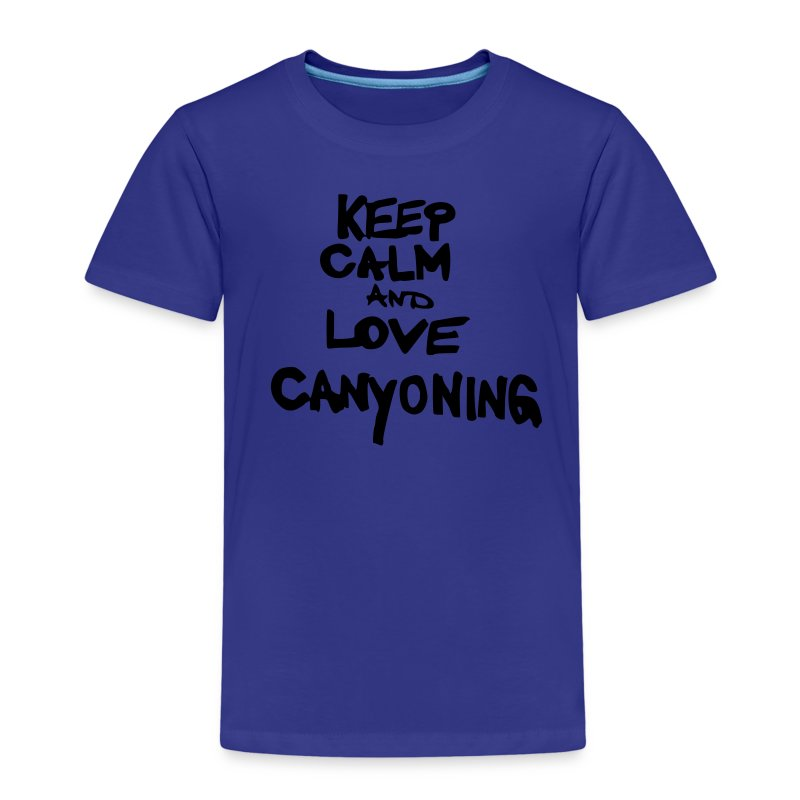 keep calm and love canyoning - Kinder Premium T-Shirt
