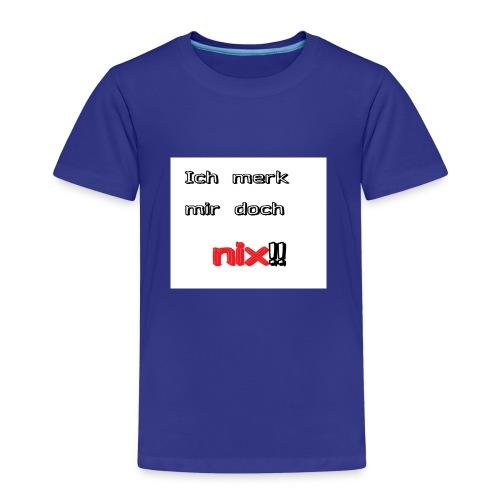 Ich merk mir doch nix - Kinder Premium T-Shirt