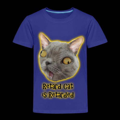 Retarded Cat - Premium-T-shirt barn