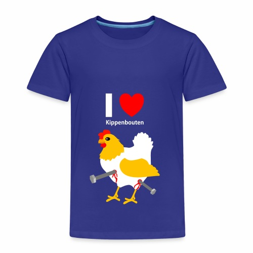 I love kippenbouten - Kinderen Premium T-shirt