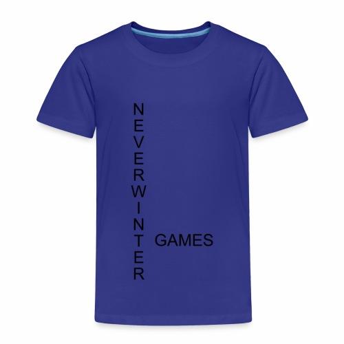 Neverwinter Games T-Shirt Schrift Schwarz - Kinder Premium T-Shirt