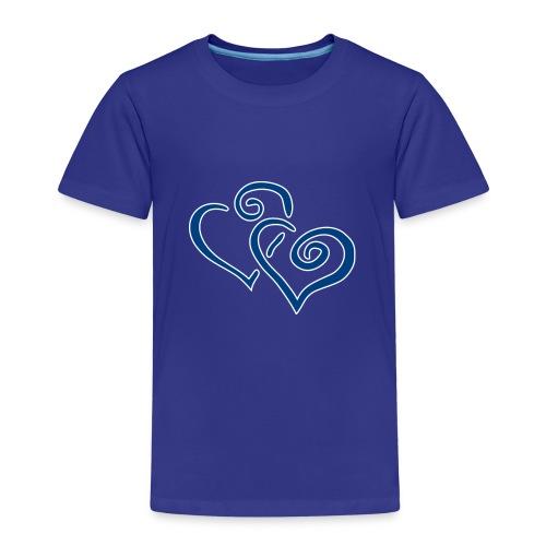 Blue Hearts - Kinder Premium T-Shirt