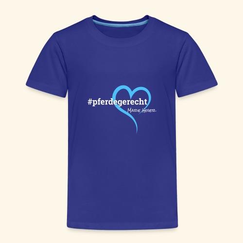 #pferdegerecht weiß Name - Kinder Premium T-Shirt