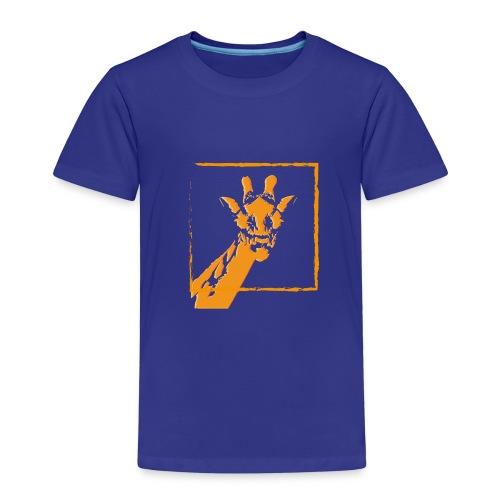 giraffe strichzeichnung orange - Kinder Premium T-Shirt