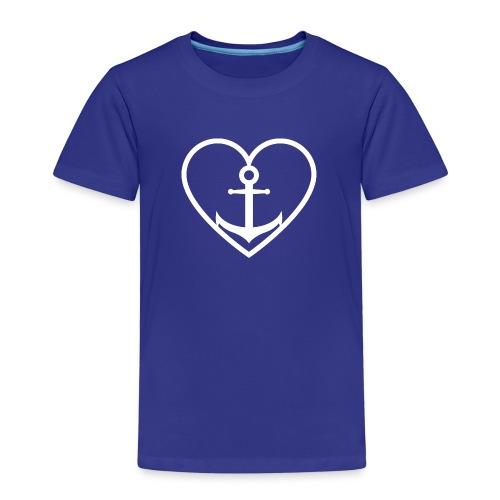 Anker Herz Liebe Küste Norddeutschland Wasser See - Kinder Premium T-Shirt