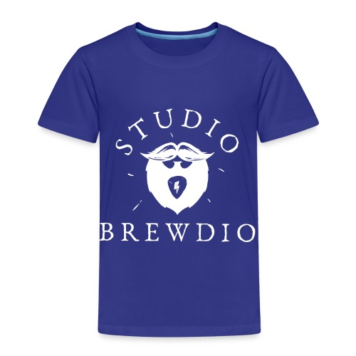 Studio Brewdio Logo White - Kids' Premium T-Shirt
