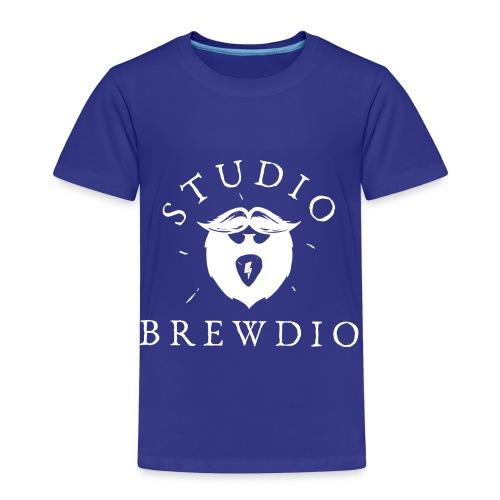 Studio Brewdio Logo White - Kids' Premium T-Shirt