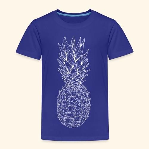 Ananas weiß - Kinder Premium T-Shirt