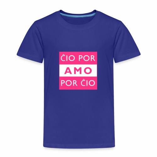 LIEBE FÜR ALLE - ESPERANTO - Kinder Premium T-Shirt