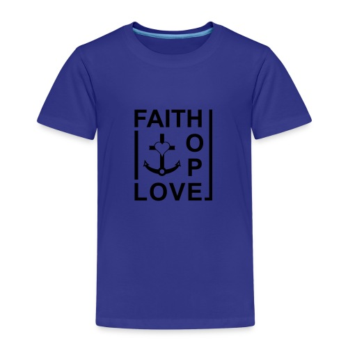 Faith, Love, Hope, mit Herz transparent - Kinder Premium T-Shirt