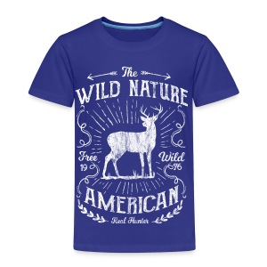 ANTLER HUNTER - Jäger Hunter Hunting Wildnis Shirt - Kinder Premium T-Shirt