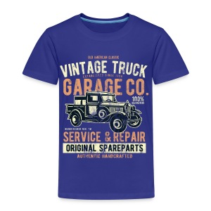 VINTAGE TRUCK- Vintage Pick Up Truck LKW Car Shirt - Kinder Premium T-Shirt