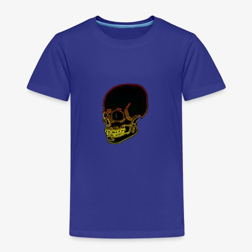 Funky red and yellow neon skull - Kids' Premium T-Shirt