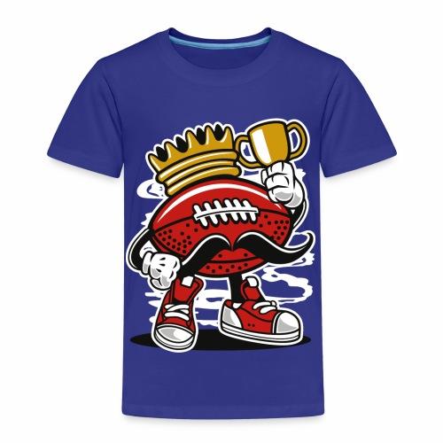 AMERICAN FOOTBALL KÖNIG - Football Comic Geschenk - Kinder Premium T-Shirt