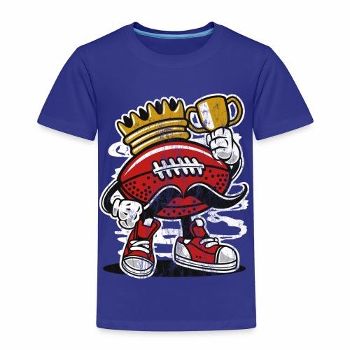 FOOTBALL KÖNIG - American Football Comic Geschenk - Kinder Premium T-Shirt