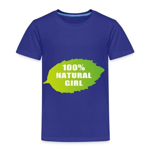 100% natural girl - Lasten premium t-paita