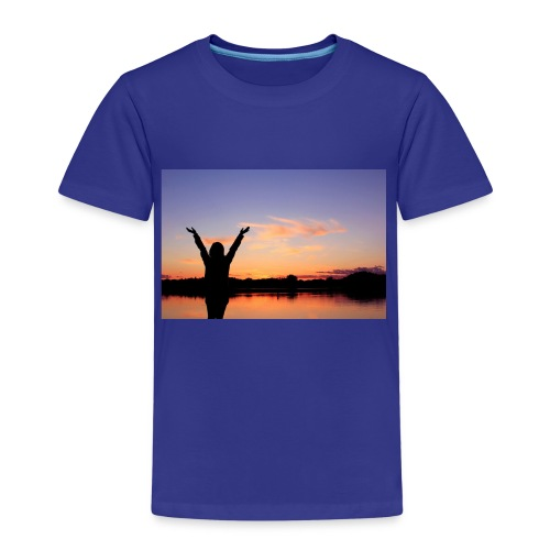 Praise, Vrijheid, Zonsondergang Pruduct - Kinderen Premium T-shirt