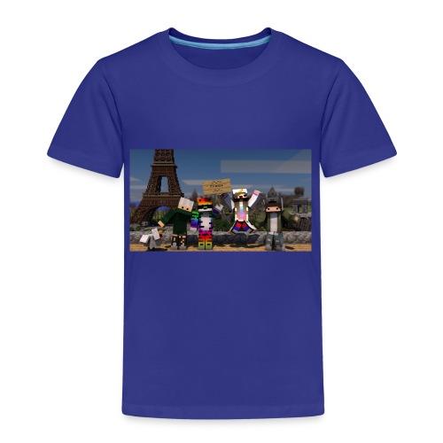 Paris Minecraft Bild mit Mir, Luka, Helena - Kinder Premium T-Shirt