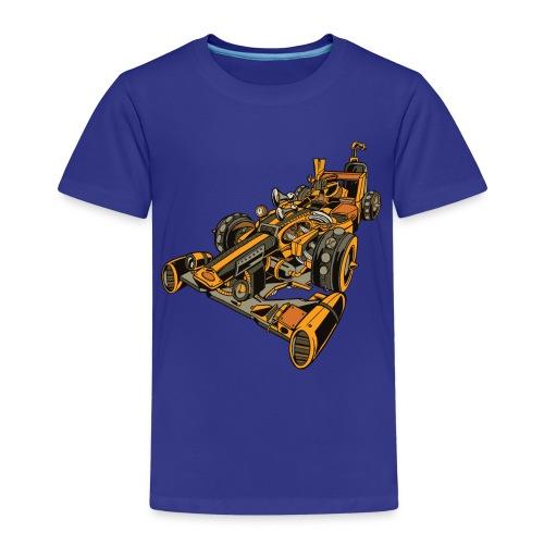 Auto de Carreras Steampunk - Camiseta premium niño