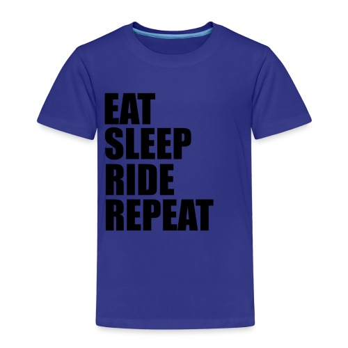 Eat sleep ride repeat - Maglietta Premium per bambini