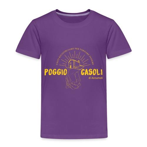 Poggio Casoli_Istituzionale_Giallo - Maglietta Premium per bambini