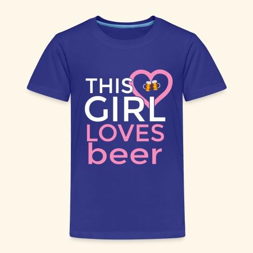 Ragazza birra - Maglietta Premium per bambini